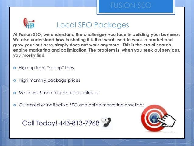 Local SEO Packages | Fusion SEO