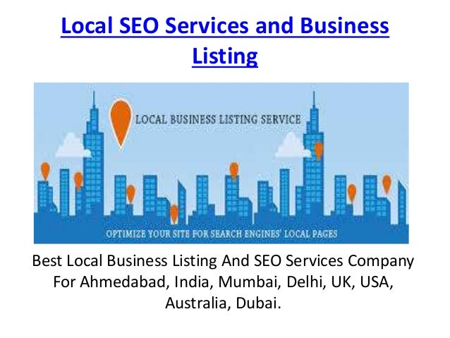 Local seo services and business listing ppt
