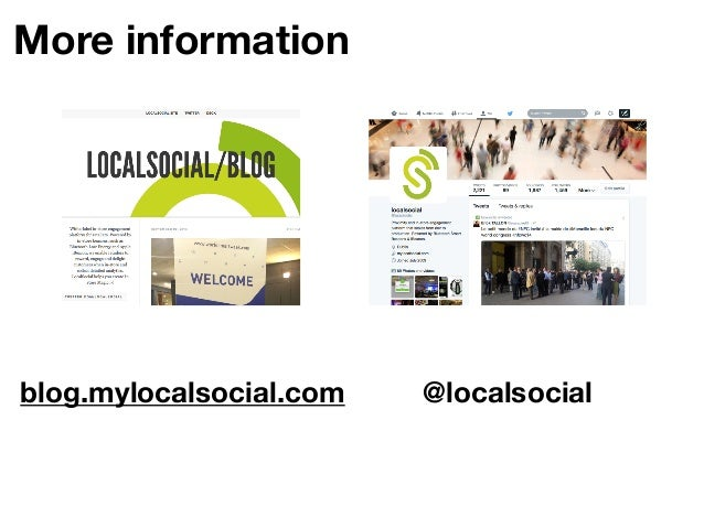 In Store Engagement Platform  twitter: @localsocial blog: blog.mylocalsocial.com  44
