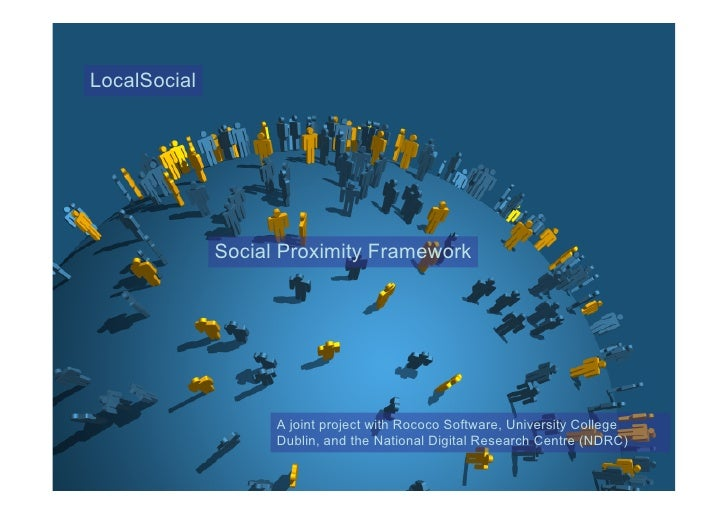 LocalSocial    Mobile Social Networking                  Social Proximity Framework                         A joint projec...