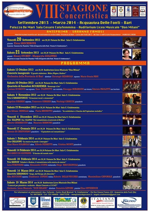 Giovanni Colafemmina Centro Studi Musicali  UNI EN I  EMA GE UNI E N S T  ST  SI  O  INTEGR N E 01/20 A T 00 90 SO SO 1400...