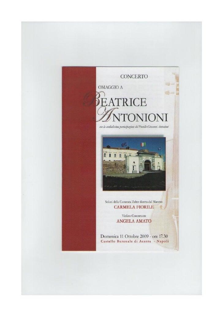 Concerto Omaggio A Beatrice Antonioni