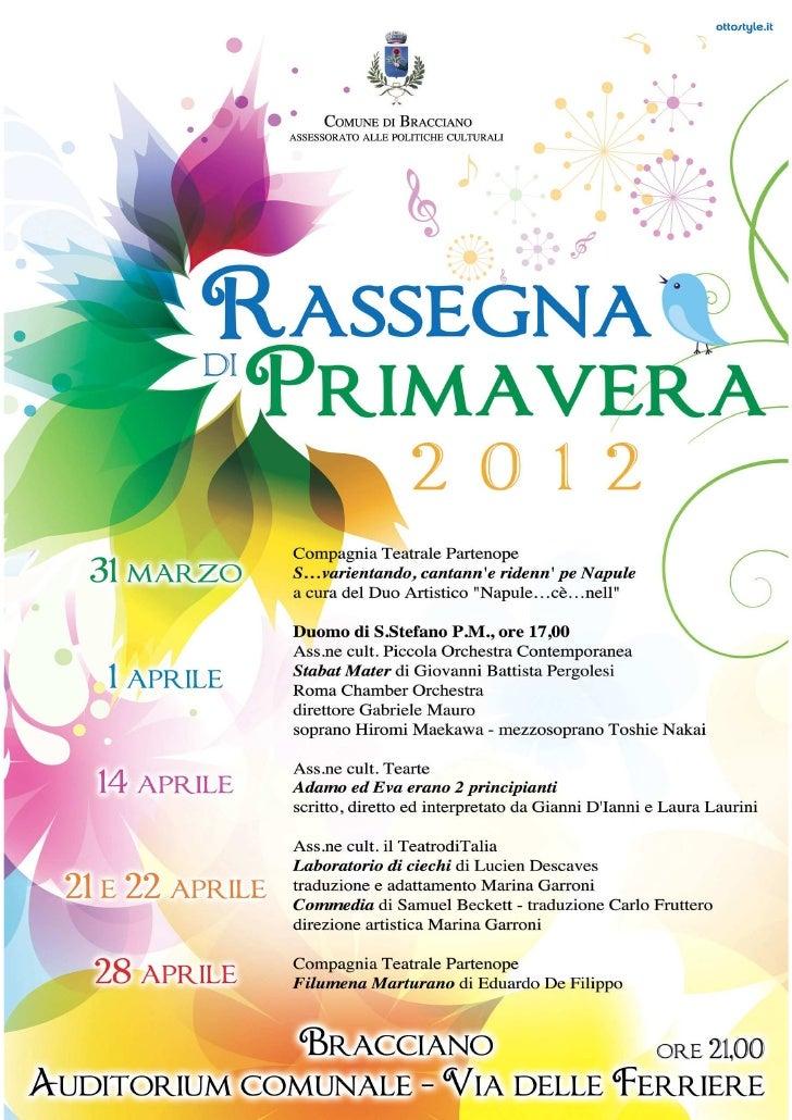 Locandina Rassegna di Primavera2012