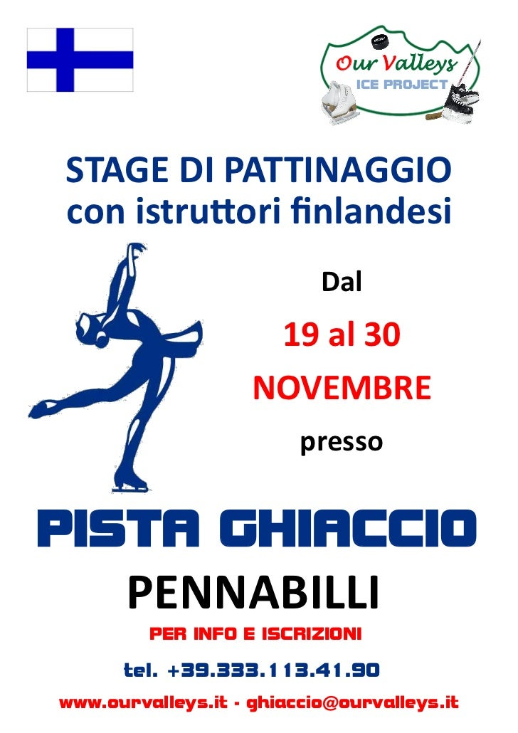 Our Valleys                               ICE PROJECTSTAGE DI PATTINAGGIOcon istruttori finlandesi                        ...