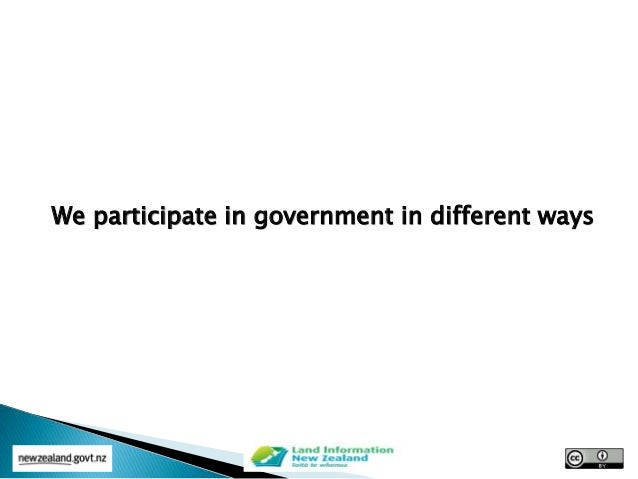 We participate in government in different ways