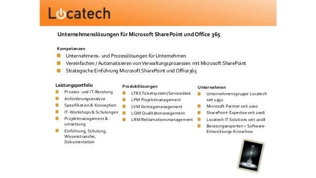 Leistungsportfolio Prozess- und IT-Beratung Anforderungsanalyse Spezifikation & Konzeption IT-Workshops & Schulungen Proje...