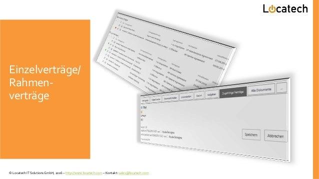 Einzelverträge/ Rahmen- verträge © Locatech IT Solutions GmbH, 2016 – http://www.locatech.com – Kontakt: sales@locatech.com