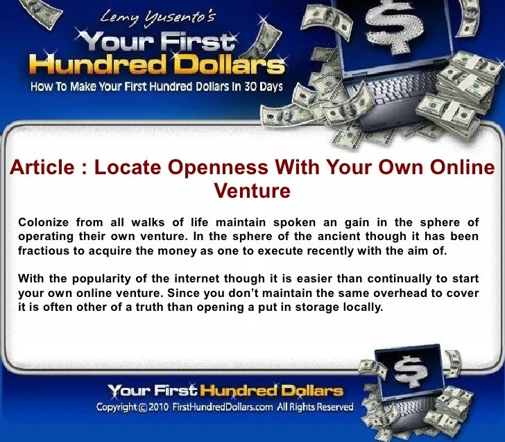 Article : Locate Openness With Your Own Online                     Venture Colonize from all walks of life maintain spoken...
