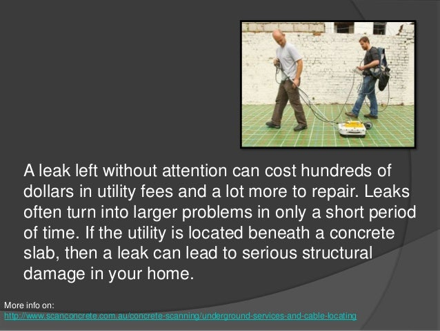 Locating Utilities in Concrete Slabs Using Ground Penetrating Radar