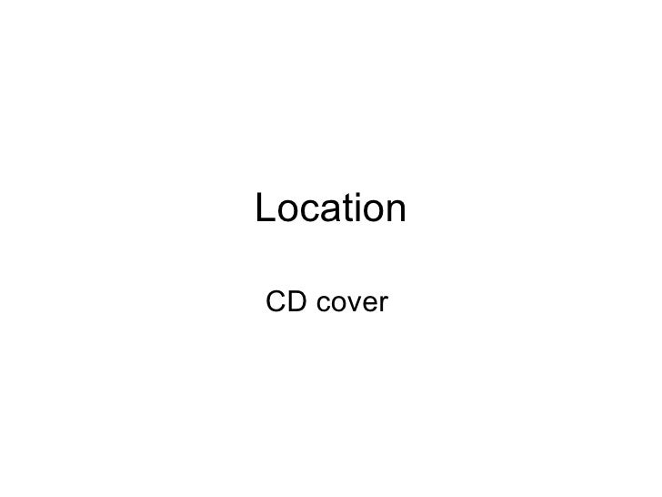 Location CD cover