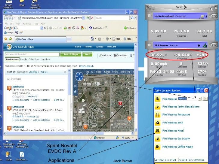 Sprint Novatel EVDO Rev A Applications  Jack Brown