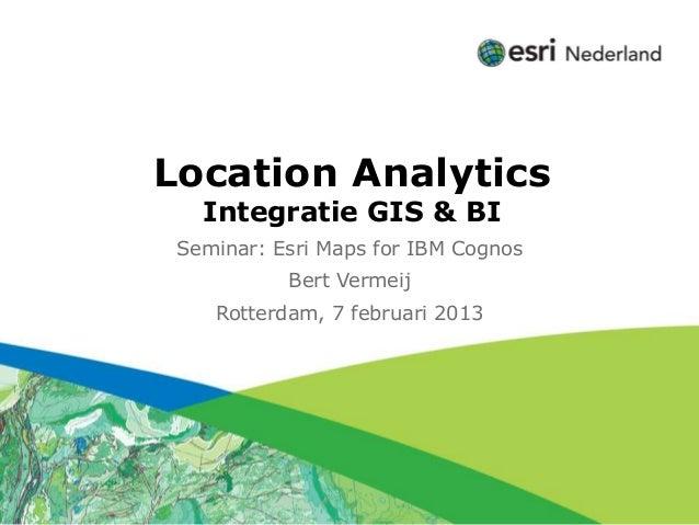 Click to edit Subtitle (optional)          Location Analytics                 Integratie GIS & BI             Seminar: Esr...