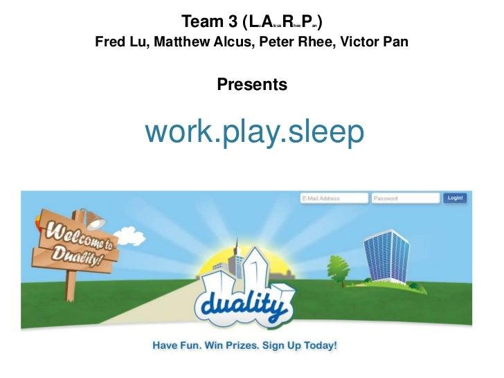 Team 3 (L A R P )                       u   lcus   hee   anFred Lu, Matthew Alcus, Peter Rhee, Victor Pan                 ...