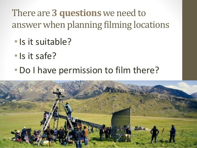 Location, location, location   risk assessments and recces Slide 2