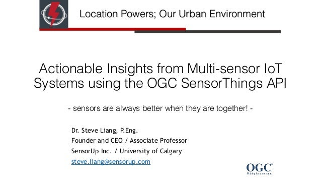 Actionable Insights from Multi-sensor IoT Systems using the OGC SensorThings API