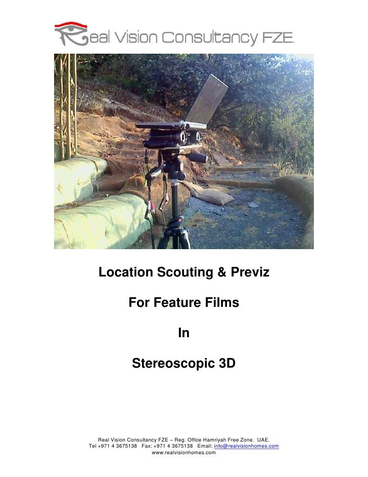 Location Scouting & Previz                For Feature Films                                  In                 Stereoscop...