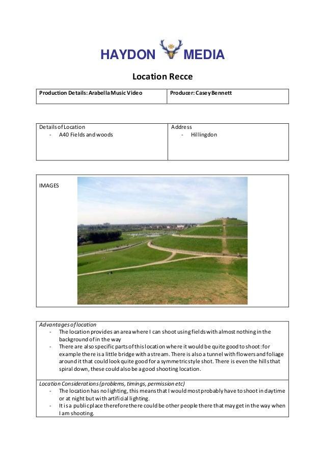 Location recce Slide 2