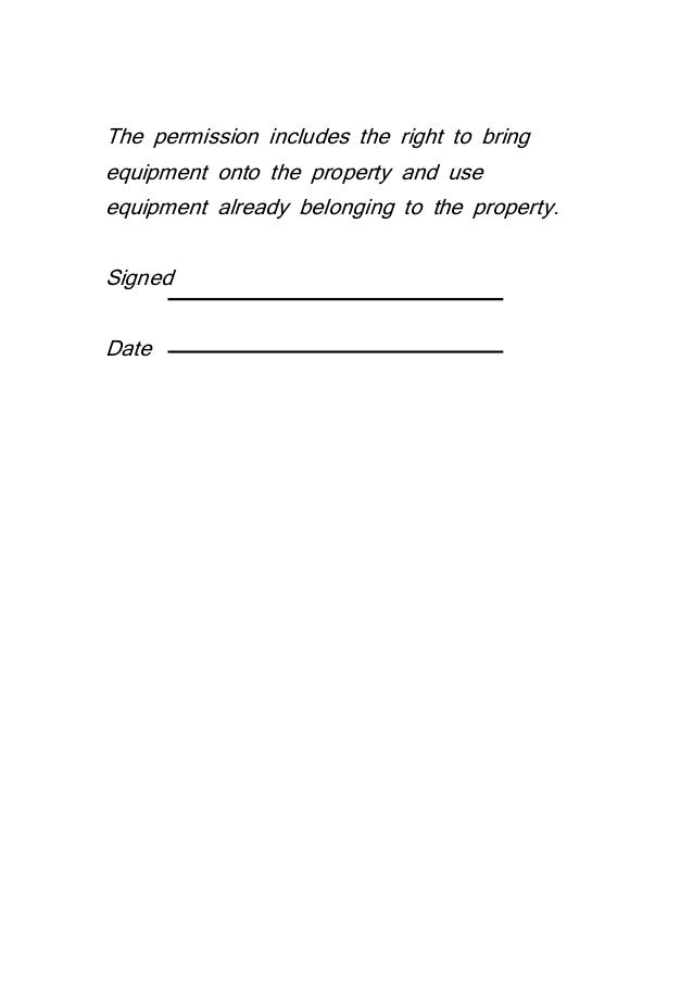 Property Release Form Downloadable Consent Form For Photography