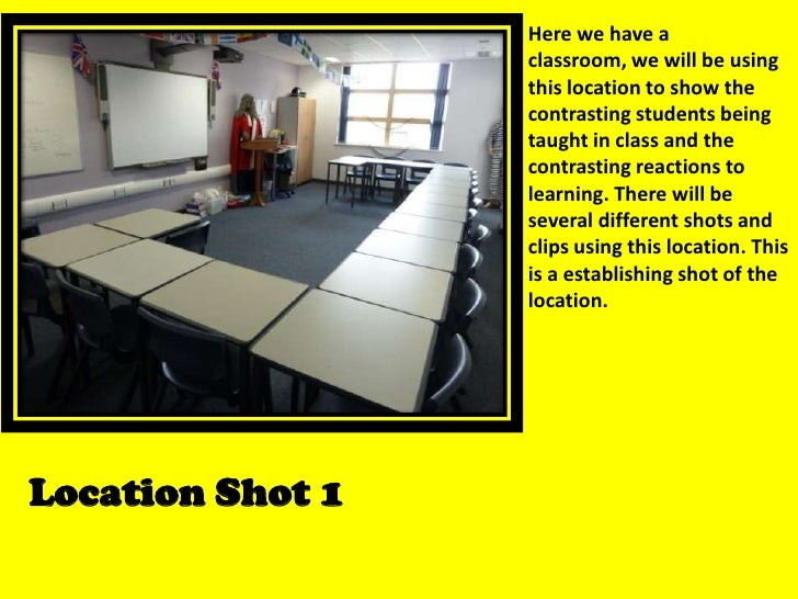 Here we have a classroom, we will be using this location to show the contrasting students being taught in class and the co...
