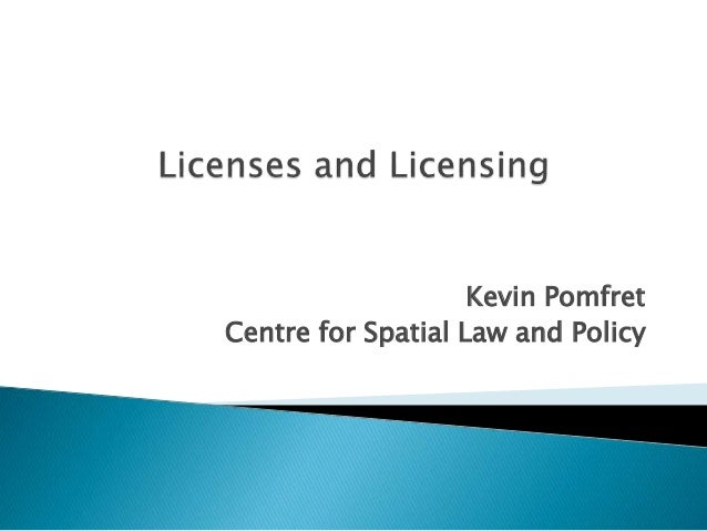 Kevin Pomfret Centre for Spatial Law and Policy
