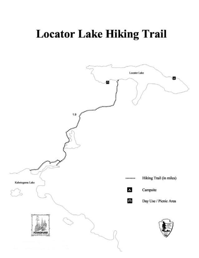 Voyageurs National Park Locator Lake Hiking Trail