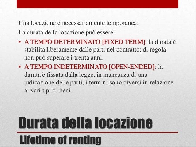 Locazione affitto for Locatario e conduttore