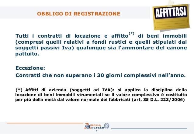 Superior ... 2. OBBLIGO DI REGISTRAZIONE Tutti I Contratti Di Locazione ...