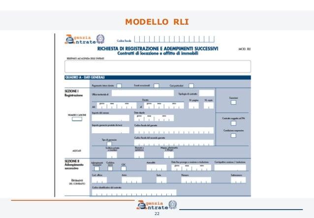 Il contratto di locazione la registrazione telematica for Contratto cedolare secca modello