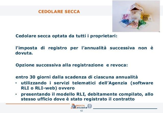 ... Contratto Di Locazione 41; 42. CEDOLARE SECCA ...