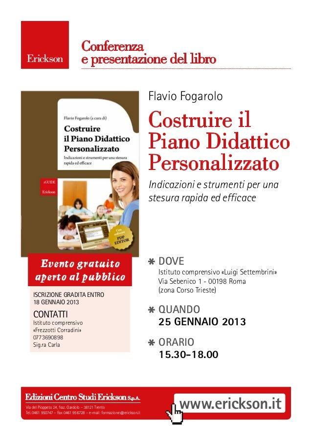 Conferenza                                e presentazione del libro                                                       ...