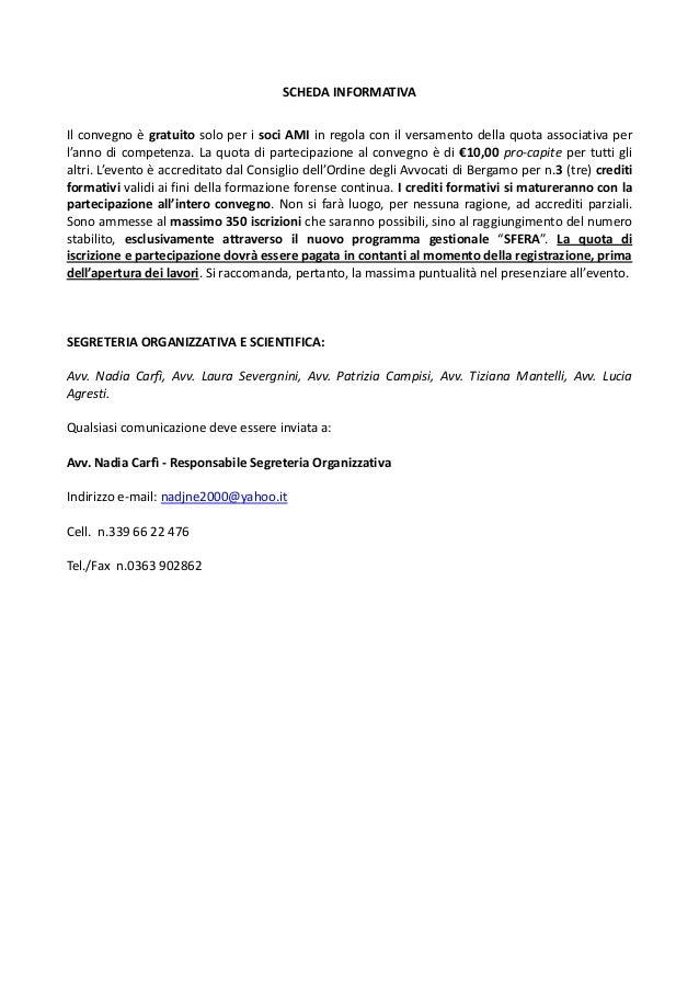 La locandina del convegno di Bergamo 28/11/14 sulla conversione del D.L. Orlando Slide 2