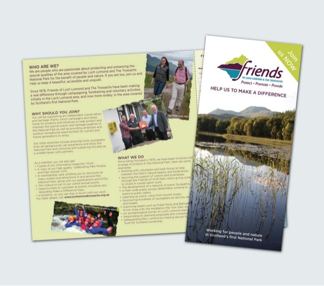 Friends Loch Lomond leaflet design