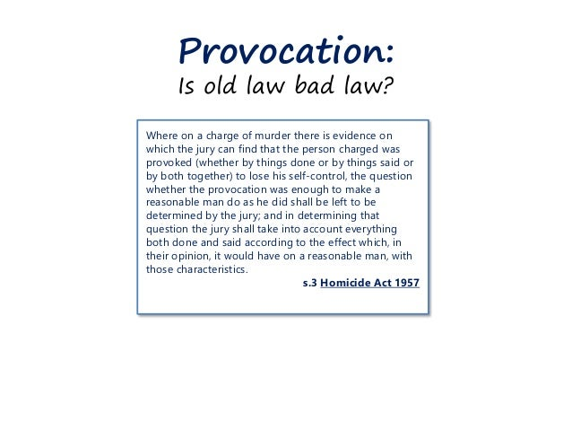 change from provocation to loss of control essay When sexual infidelity triggers murder: examining the impact of homicide law reform on judicial attitudes in sentencing  partial defence of provocation, loss of control, homicide law reform, sentencing, murder,  for relatively early english essays on the doctrine, see andrew ashworth, 'the doctrine of provocation' (1976) 35 cambridge.