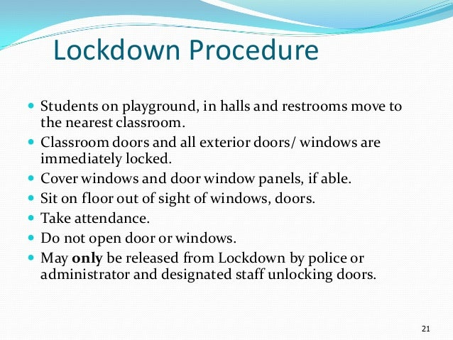 School Lockdown Drill Letter To Parents