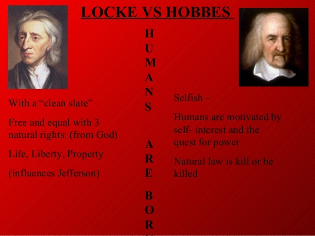 an introduction to the life of thomas hobbes and john locke While both thomas hobbes and john locke believed that people naturally form   i introduction citizens consent to government's authority because the  alternative life without government would be far worse1 this relationship  between.
