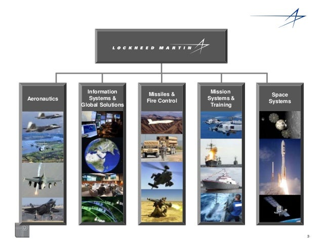 3  Space  Systems  Aeronautics  Information  Systems &  Global Solutions  Missiles &  Fire Control  Mission  Systems &  Tr...