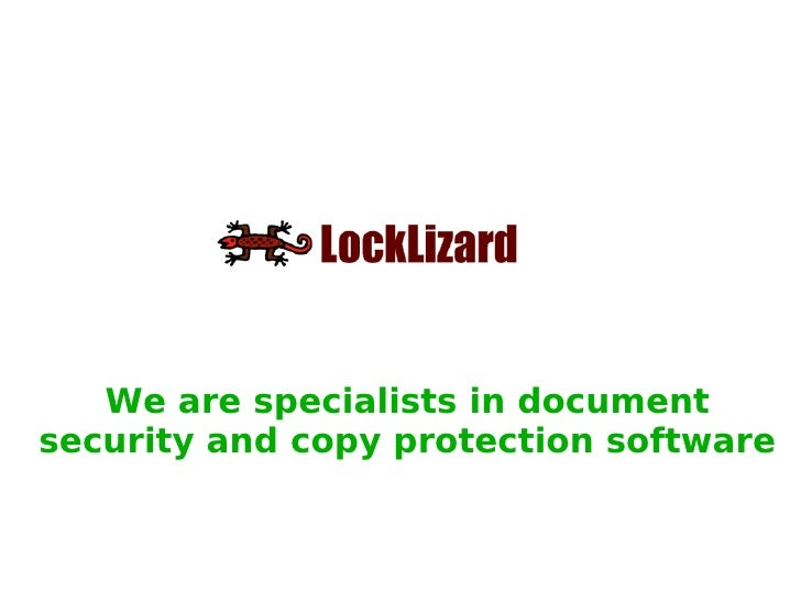We are specialists in document security and copy protection software