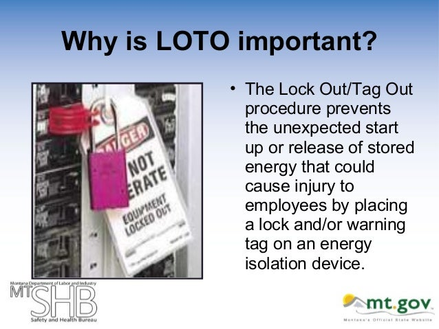 Lock Out Tag Out Natural Gas