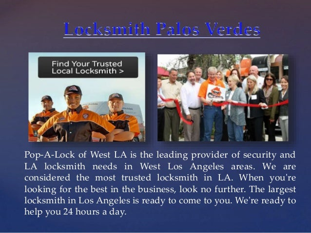 { Pop-A-Lock of West LA is the leading provider of security and LA locksmith needs in West Los Angeles areas. We are consi...