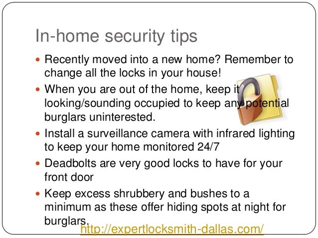 2 In Home Security Tips