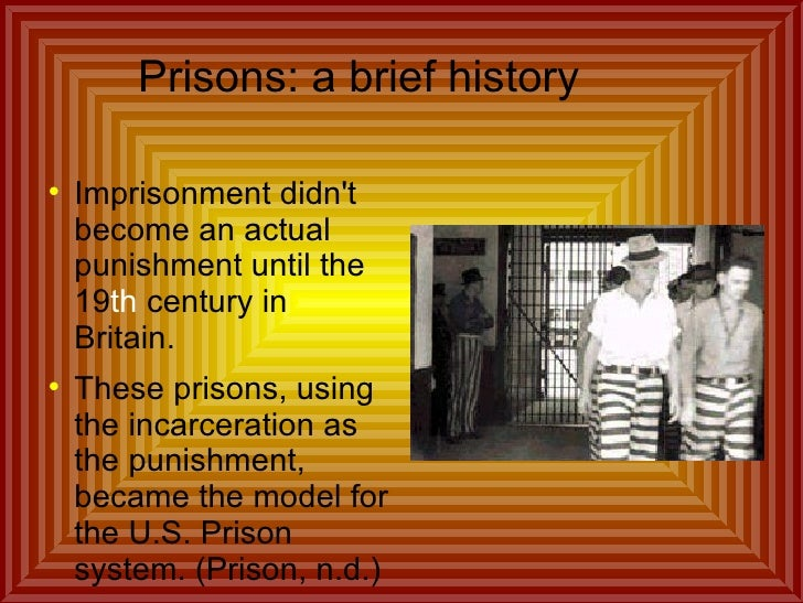 history of state and federal prisons essay Convicts without care: how the privatization of healthcare  how the privatization of healthcare in the us  state and federal prisons to adopt a.