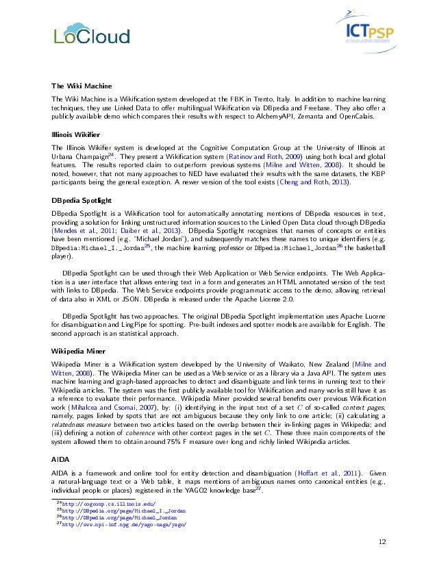 LoCloud - D3 3: Metadata Enrichment services