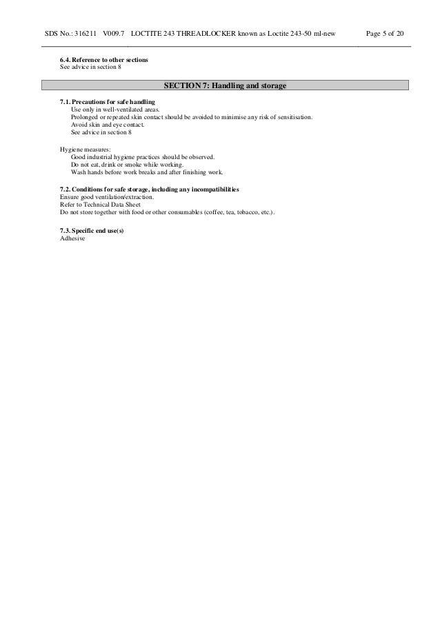 Loctite 243 msds