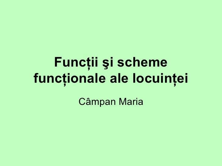 Funcţii şi scheme funcţionale ale locuinţei C â mpan Maria