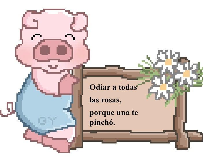Odiar a todas las rosas, porque una te pinchó.
