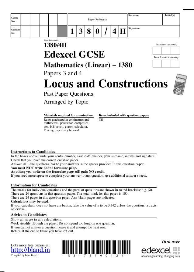 Locus & construction