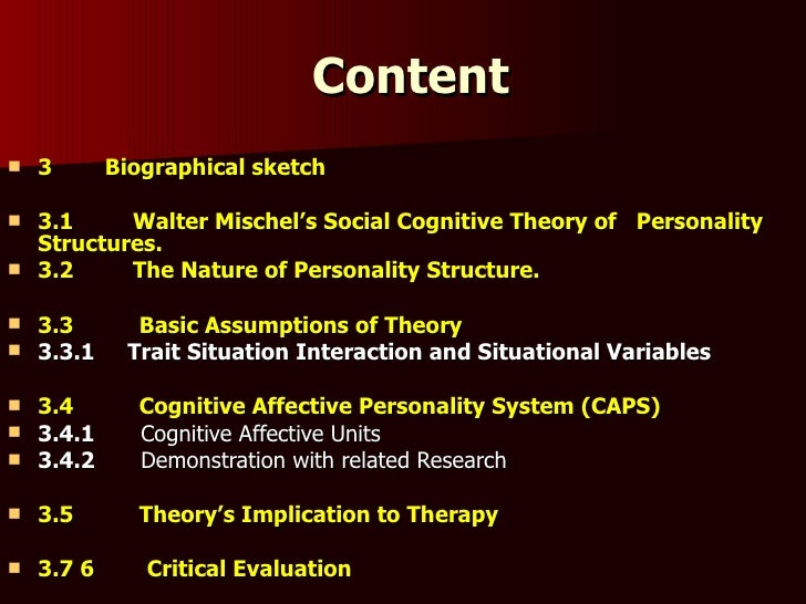 critical evaluation of trait theory and personal construct theory Specific level of analysis, one finds the idiographic study of a solitary person with  his or  first, personal construct theory (pct) posits that a funda- mental (viz.