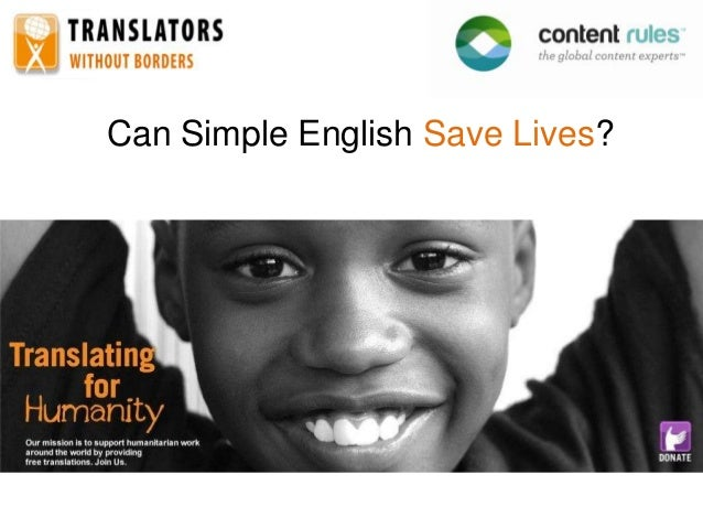 Can Simple English Save Lives?