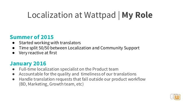 LocWorld 2016   Localization for startups (Wattpad)
