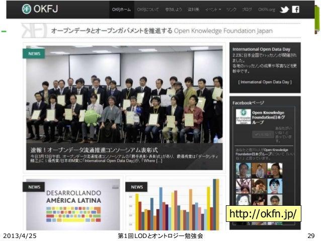 2013/4/25 第1回LODとオントロジー勉強会 29 http://okfn.jp/